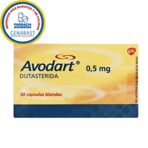 Avodart dutasterida 05 mg 30 cápsulas blandas gsk