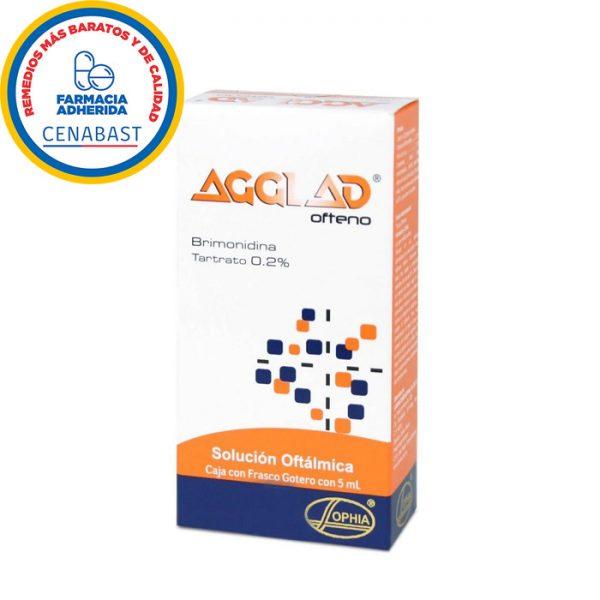 Agglad ofteno brimonidina tartrato solución oftálmica 5 ml