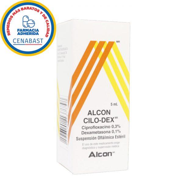 alcon cilo-dex ciprofloxacino dexametasona suspensión oftálmica estéril 5 ml