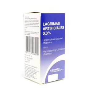 Lágrimas Artificiales 0.3% hipromelosa solución oftálmica 15 ml ethon