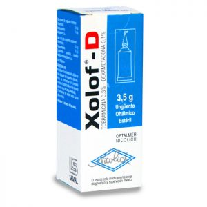 xolof-d 3.5 g unguento oftálmico estéril saval