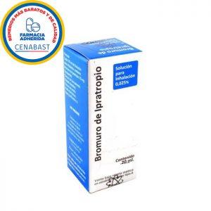 bromuro de ipratropio 20 ml solución para inhalación 0,025%